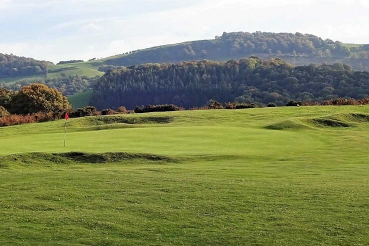 A green complex at Welshpool Golf Club.