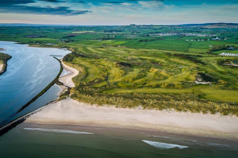 The Castlerock Golf Club Bann Course beside the River Bann.