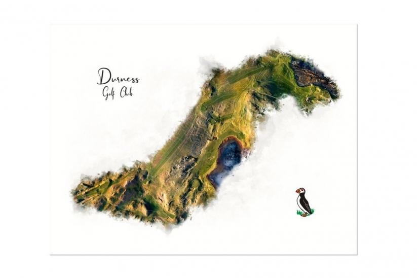 A WaterMap of Durness Golf Club by Joe Mcdonnell.