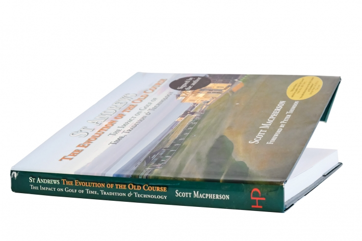 A photo of the book St Andrews: The Evolution of the Old Course by Scott MacPherson.