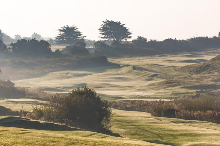 The 4th hole at St Enodoc Golf Club.
