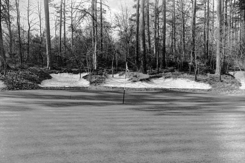 The original Thirteenth green at Augusta in 1948.