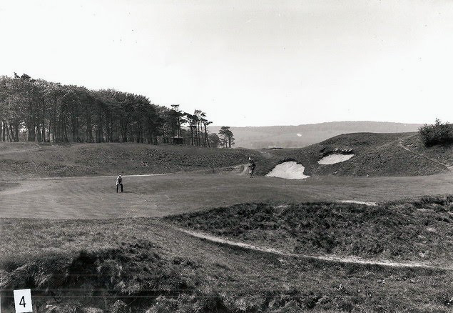The par 3 Fourth green at Cavendish Golf Club in Derbyshire, England.