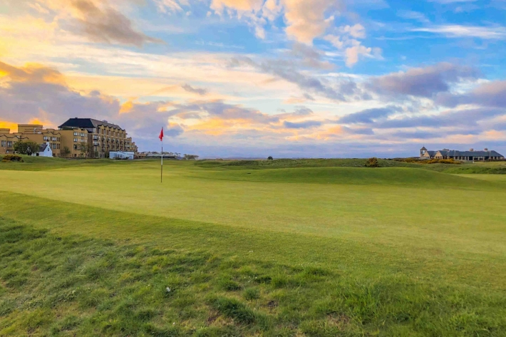 The 17th green at The Old Course served as Alister MacKenzie's Augusta Inspiration.