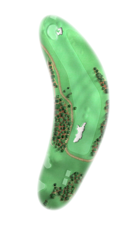 Historical image of Hole 2 Pink Dogwood Augusta National