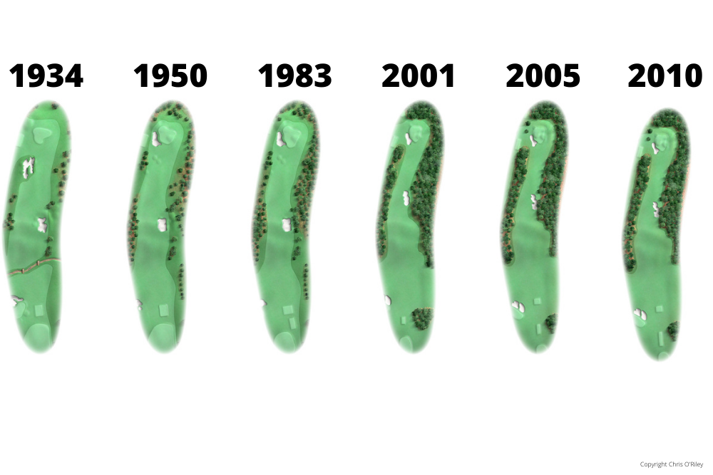The Evolution of Hole 1 at the home to The Masters, Augusta National Golf Club.