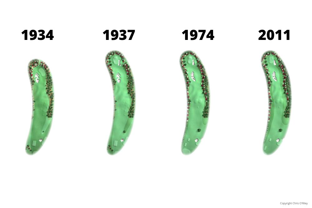 The Evolution of Hole 10 at the home to The Masters, Augusta National Golf Club.