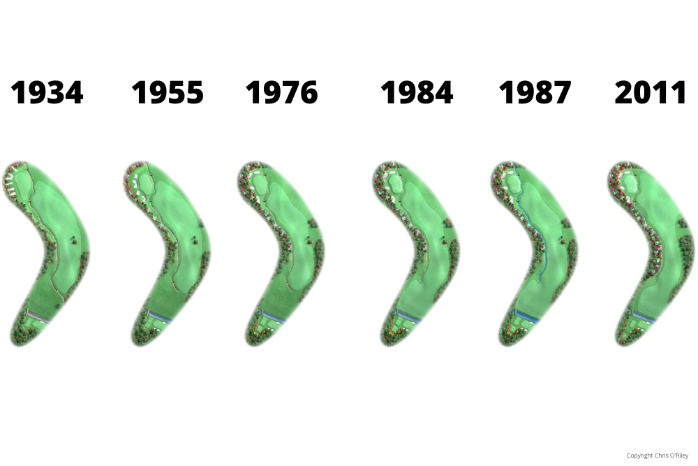 The Evolution of Hole 13 at the home to The Masters, Augusta National Golf Club.