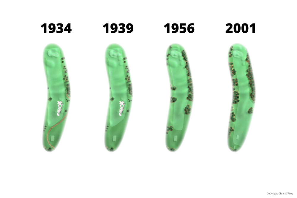 The Evolution of Hole 14 at the home to The Masters, Augusta National Golf Club.