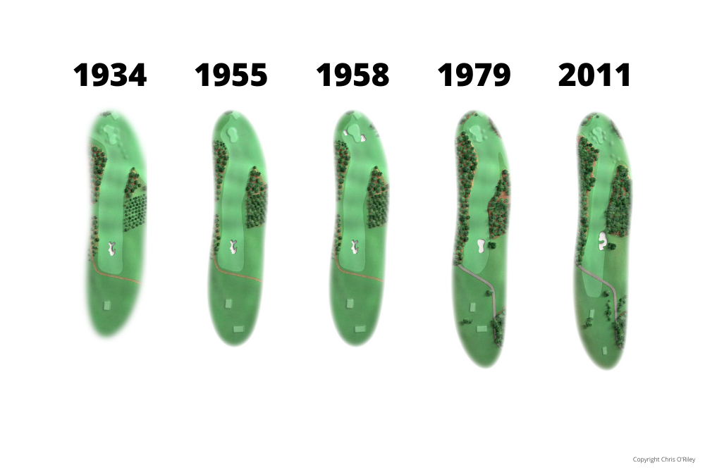 The Evolution of Hole 8 at the home to The Masters, Augusta National Golf Club.