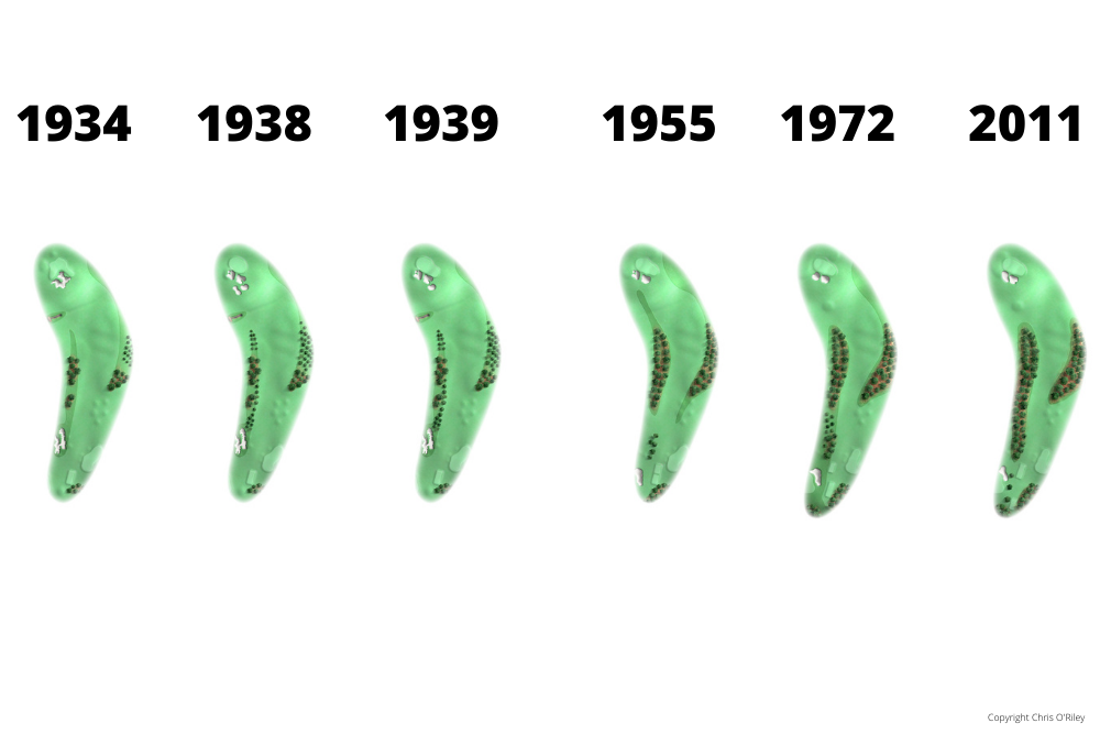 The Evolution of Hole 9 at the home to The Masters, Augusta National Golf Club.