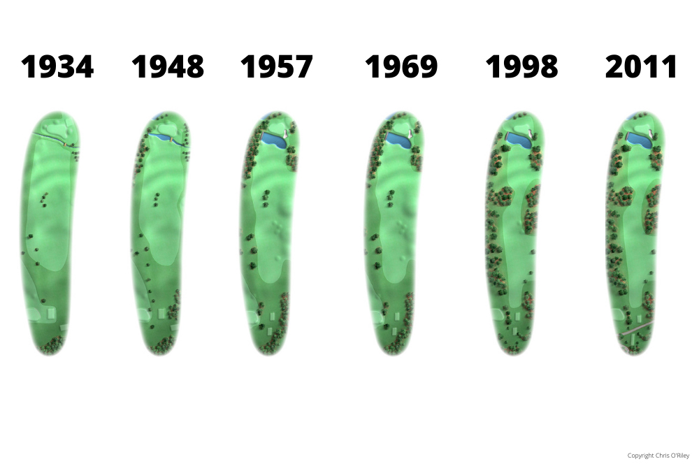 The Evolution of Hole 15 at the home to The Masters, Augusta National Golf Club.