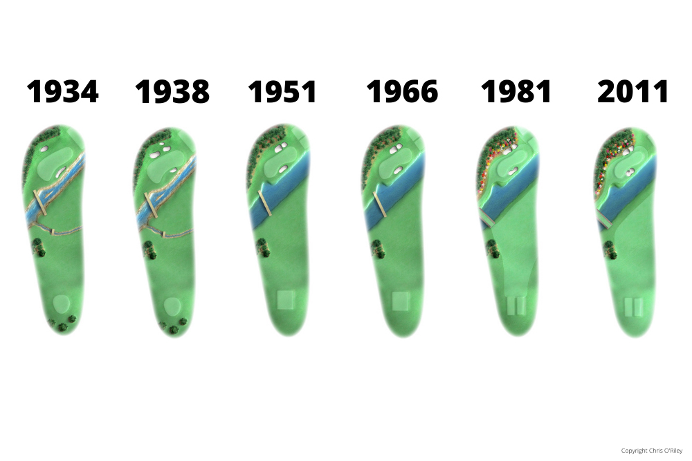 The Evolution of Hole 12 at the home to The Masters, Augusta National Golf Club.