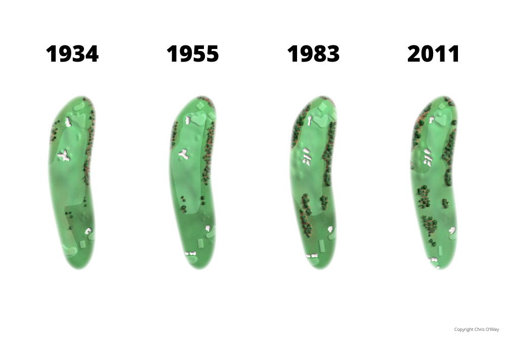 The Evolution of Hole 3 at the home to The Masters, Augusta National Golf Club.
