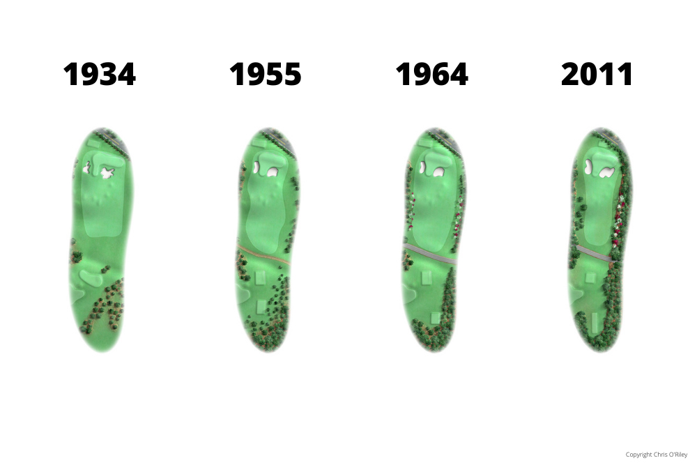 The Evolution of Hole 4 at the home to The Masters, Augusta National Golf Club.
