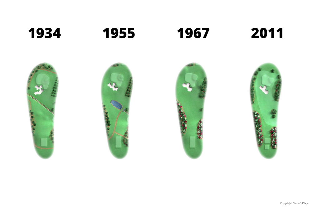 The Evolution of Hole 6 at the home to The Masters, Augusta National Golf Club.