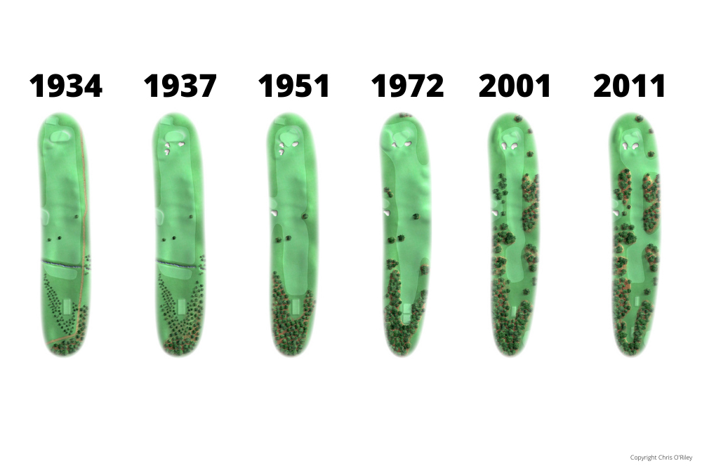 The Evolution of Hole 17 at the home to The Masters, Augusta National Golf Club.