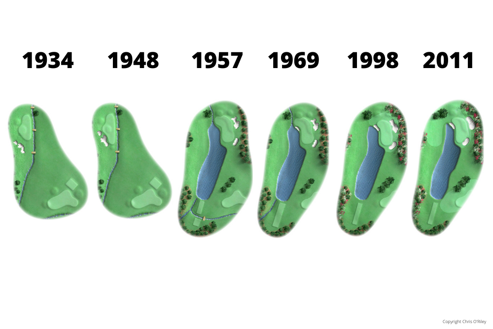 The Evolution of Hole 16 at the home to The Masters, Augusta National Golf Club.