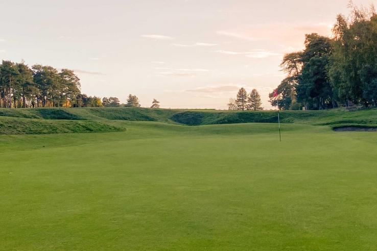 The punchbowl 7th at Flempton Golf Club.
