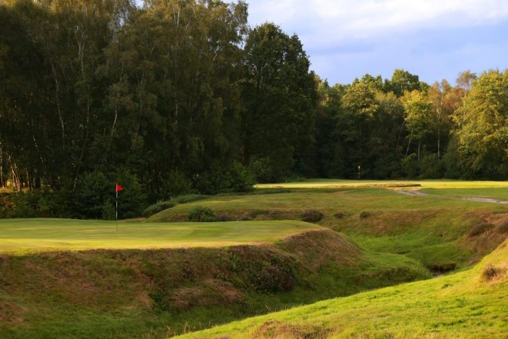The 5th and 6th greens at Royal Ashdown Forest Golf Club.