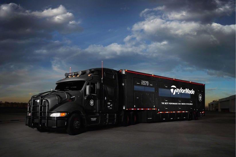 The TaylorMade Tour Van.