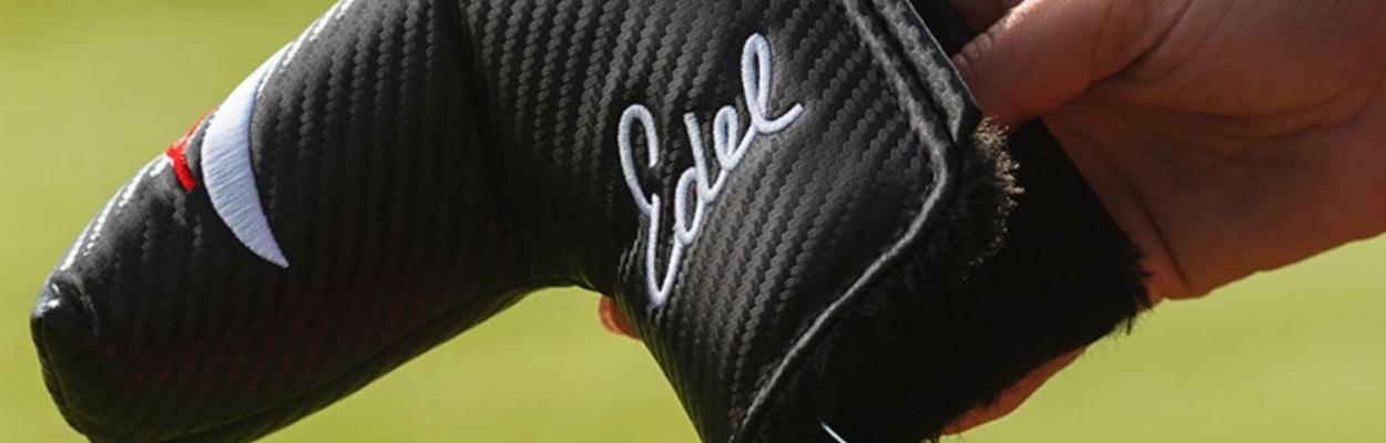 An Edel golf putter headcover.