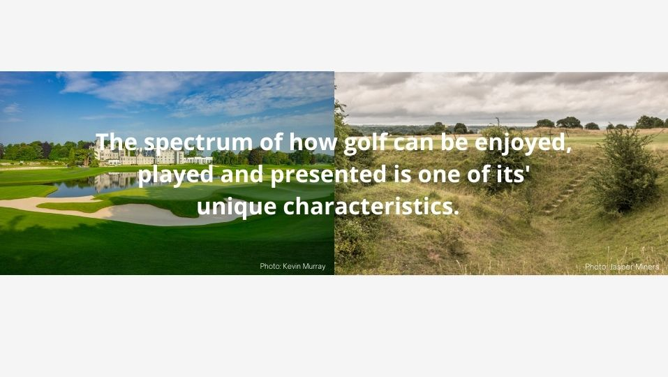 What is golf course architecture? Adare Manor and Minchinhampton differ but are both good.